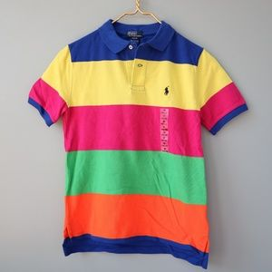 Ralph Lauren Polo Color Block Collar Shirt M 10/12